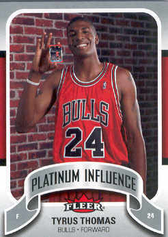 2006-07 Fleer Jordan's Platinum Influence #TT Tyrus Thomas