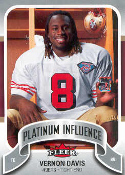 2006-07 Fleer Jordan's Platinum Influence #VD Vernon Davis