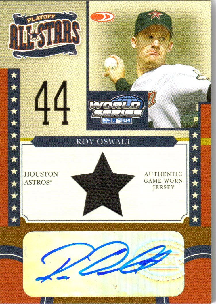 2004 Donruss World Series Playoff All-Stars Signature Material 1 #7 Roy Oswalt Jsy/100