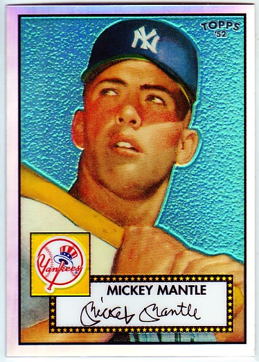 2006 Topps 52 Chrome Refractors #7 Mickey Mantle