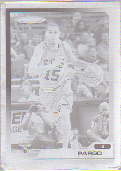 2005-06 Topps Total Press Plates Black Front #321 Jannero Pargo