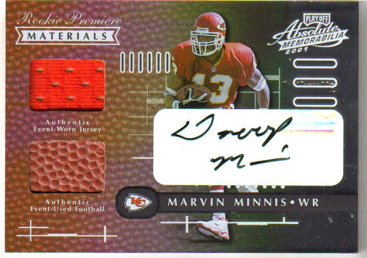 2001 Absolute Memorabilia Rookie Premiere Materials Autographs #183 Snoop Minnis