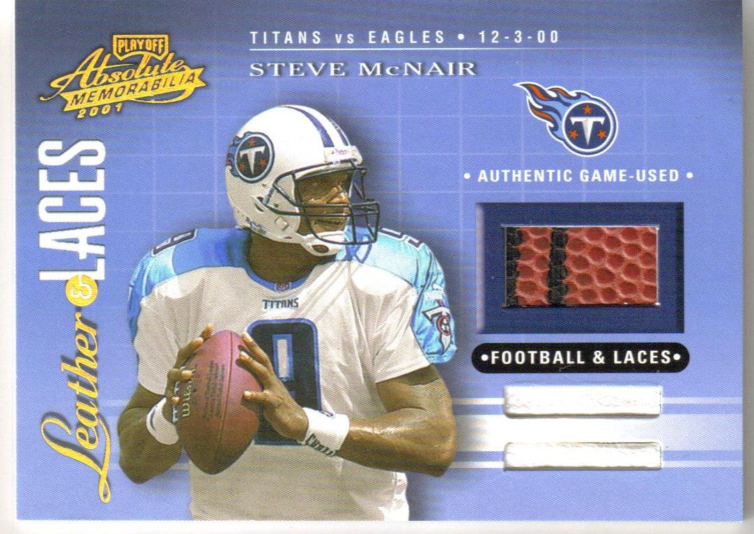 2001 Absolute Memorabilia Leather and Laces Combos #LL16 Steve McNair
