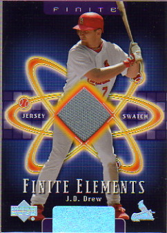 2003 Upper Deck Finite Elements Game Jersey #JD J.D. Drew