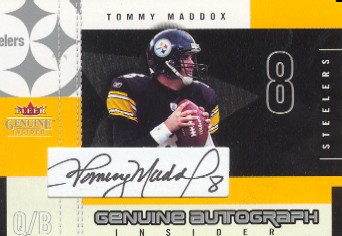 2003 Fleer Genuine Insider Autographs #AITM Tommy Maddox