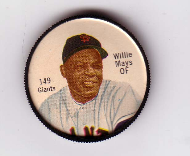 1962 Salada Coins #149 Willie Mays
