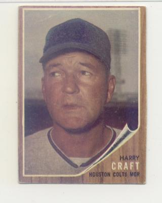 1962 Topps #12 Harry Craft MG