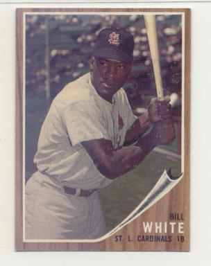 1962 Topps #14 Bill White