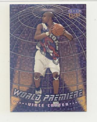 1998-99 Ultra World Premiere #14 Vince Carter front image