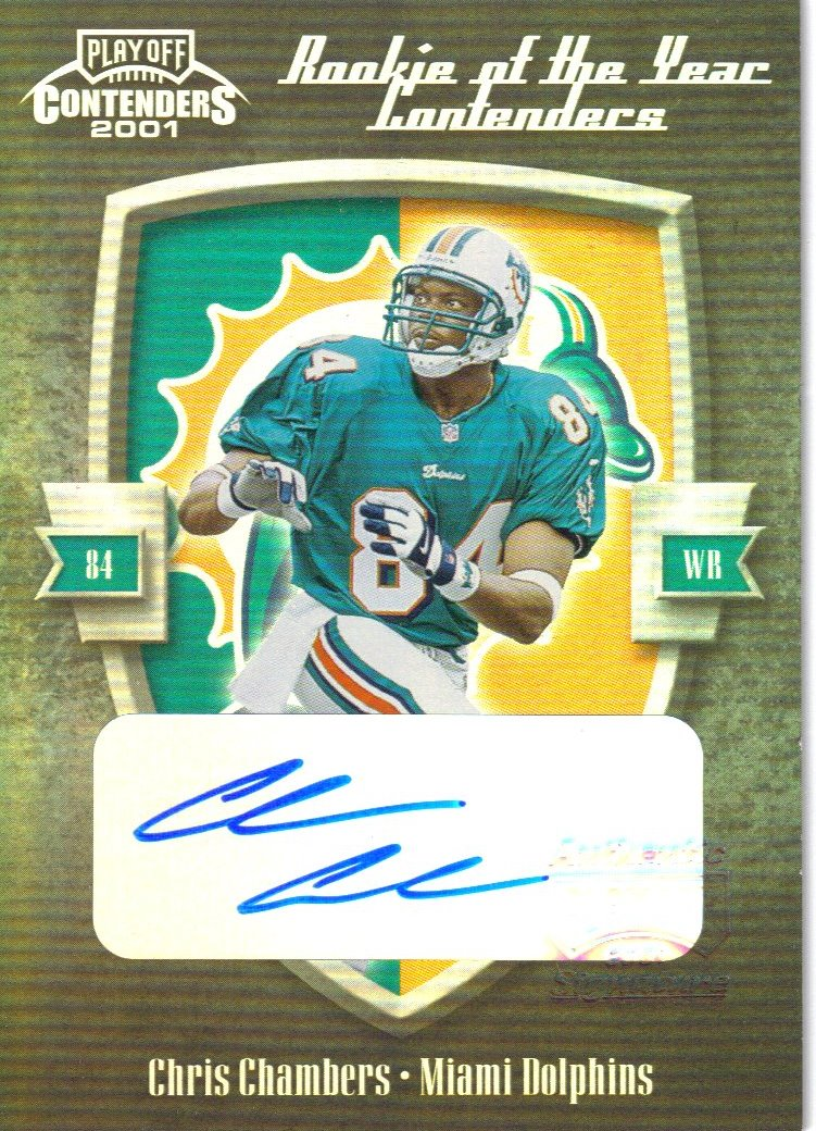 2001 Playoff Contenders ROY Contenders Autographs #3 Chris Chambers