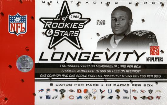 2006 Leaf Rookies & (and) Stars Longevity NFL Football Sports Trading Cards Box