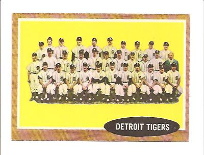 1962 Topps #24 Detroit Tigers TC front image