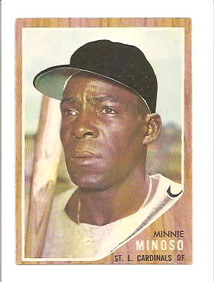 1962 Topps #28 Minnie Minoso front image
