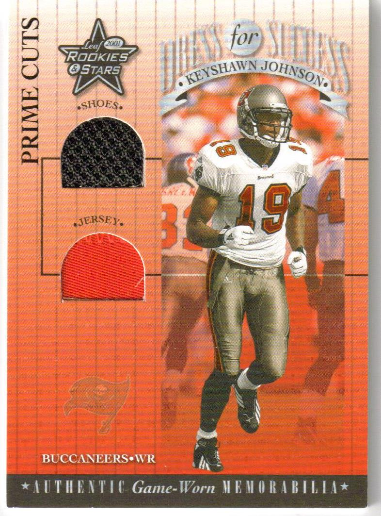 2001 Leaf Rookies and Stars Dress For Success Prime Cuts #DFS23 Keyshawn Johnson
