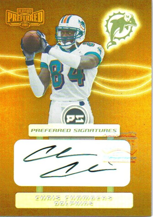 2001 Playoff Preferred Signatures Bronze #13 Chris Chambers