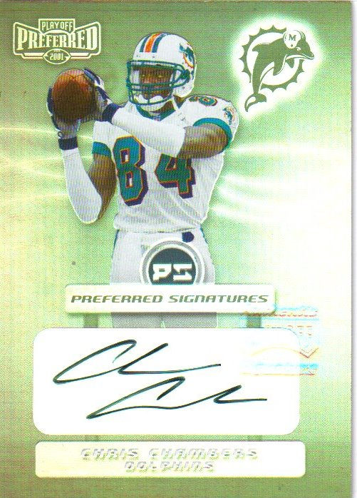 2001 Playoff Preferred Signatures Silver #13 Chris Chambers
