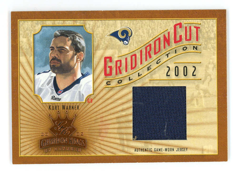 2002 Gridiron Kings Gridiron Cut Collection #GC47 Kurt Warner JSY/400 front image