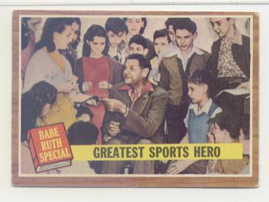 1962 Topps #143 Babe Ruth Special 9/Greatest Sports Hero front image