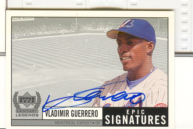 1999 Upper Deck Century Legends Epic Signatures #VG Vladimir Guerrero