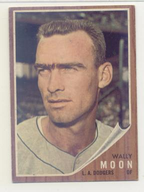 1962 Topps #190A Wally Moon No Cap