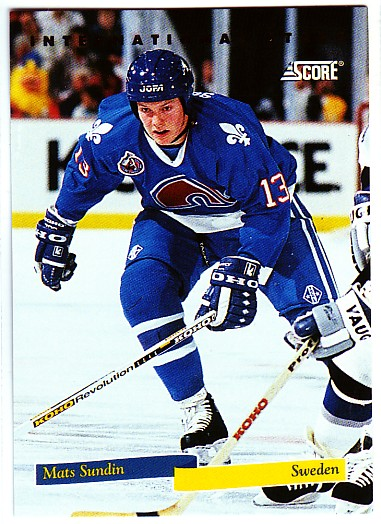 1993-94 Score International Stars Canadian #10 Mats Sundin