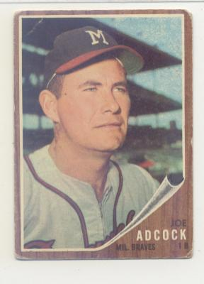 1962 Topps #265 Joe Adcock