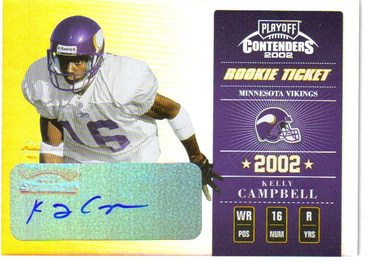 2002 Playoff Contenders #144 Kelly Campbell AU/360 RC