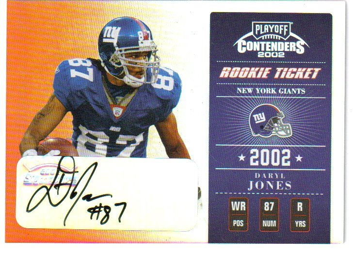 2002 Playoff Contenders #182 Daryl Jones AU/400 RC