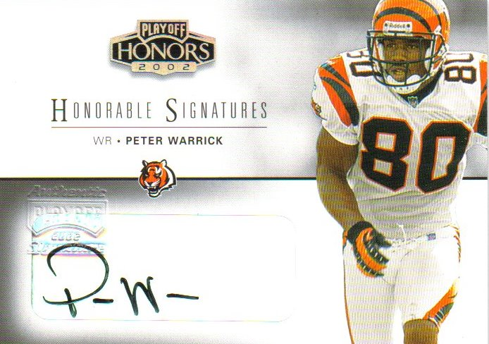 2002 Playoff Honors Honorable Signatures #HS41 Peter Warrick/100*