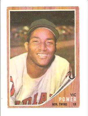 1962 Topps #445 Vic Power
