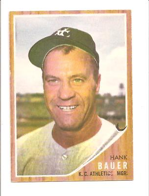 1962 Topps #463 Hank Bauer MG