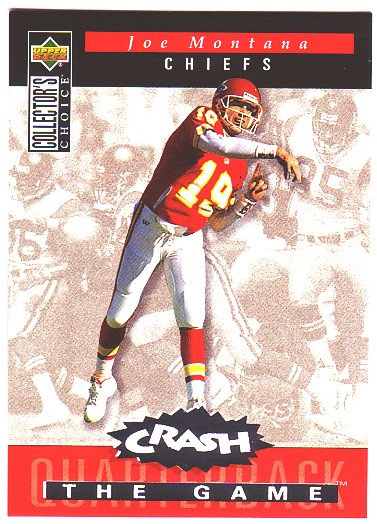 1994 Collector's Choice Crash the Game Silver Redemption #C8 Joe Montana