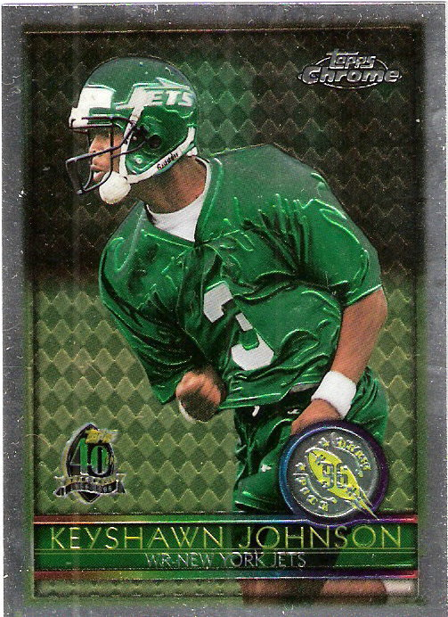 1996 Topps Chrome #159 Keyshawn Johnson RC