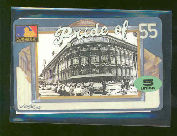 1994 Phone Card Yankees Ebbets Field Pride of 55 Phone Card 5 Units  RARE