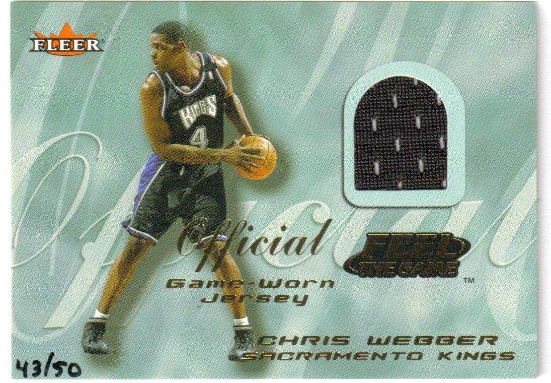 2000-01 Fleer Feel the Game Gold #37 Chris Webber