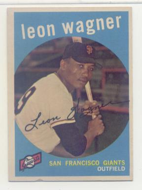 1959 Topps #257 Leon Wagner RC