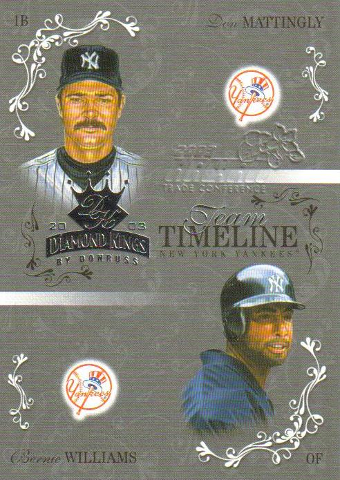 2003 Diamond Kings Team Timeline Hawaii #8 D.Mattingly/B.Williams