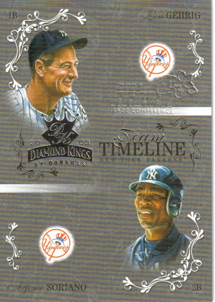 2003 Diamond Kings Team Timeline Hawaii #10 L.Gehrig/A.Soriano