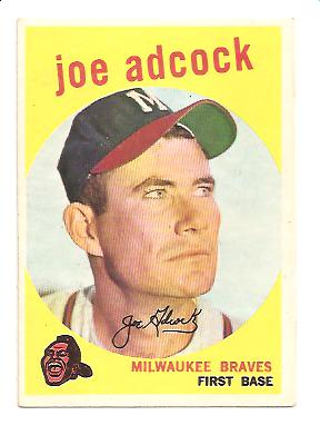 1959 Topps #315 Joe Adcock front image