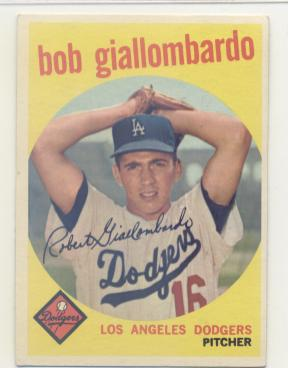 1959 Topps #321A Bob Giallombardo RC (with Option Line)