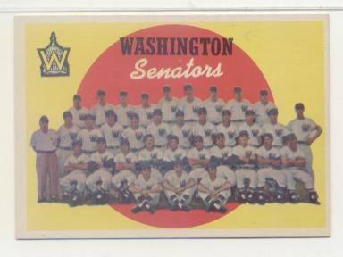 1959 Topps #397 Washington Senators CL front image
