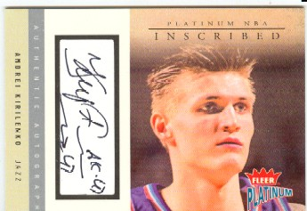 2003-04 Fleer Platinum Inscribed #AK Andrei Kirilenko/193