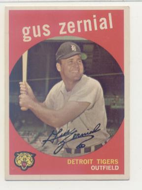 1959 Topps #409 Gus Zernial