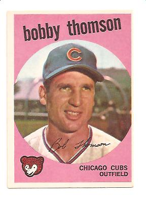 1959 Topps #429 Bobby Thomson