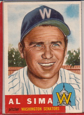 1953 Topps #241 Al Sima DP