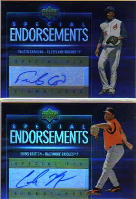 2006 Upper Deck Special F/X Special Endorsements #CB Chris Britton