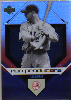 2006 Upper Deck Special F/X Run Producers #5 Lou Gehrig