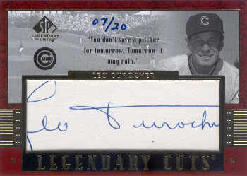 2003 SP Legendary Cuts Autographs #LD Leo Durocher/20 front image
