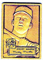 1983-91 Topps Traded Bronze Premiums #4 Mickey Mantle