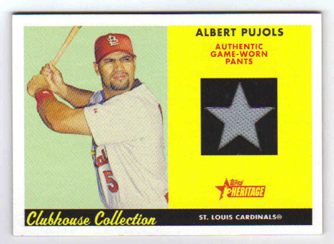 2007 Topps Heritage Clubhouse Collection Relics #AJP Albert Pujols Pants C
